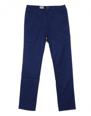 140057 LS брюки мужские синие с косым карманом весенние стрейчевые (29-38, 8 ед.)