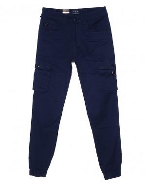 140056-X LS брюки мужские молодежные джоггеры синие весенние стрейчевые (27-34, 8 ед.)
