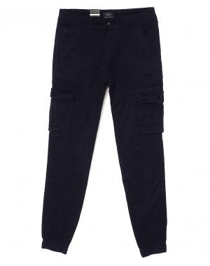 140058-X LS брюки мужские молодежные джоггеры темно-синие весенние стрейчевые (27-34, 8 ед.)