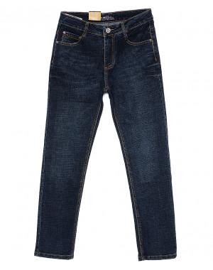 0201 темно-синие G-Max джинсы мужские батальные классические весенние стрейчевые (32-42, 8 ед.)