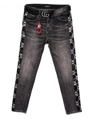 5231 Lolo Blues джинсы женские батальные серые с лампасами весенние стрейчевые (28-33, 6 ед.)