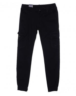 6007-2 Baron брюки мужские молодежные темно-синие на манжете весенние стрейчевые (27-34, 8 ед.)