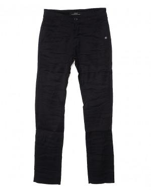 0363-1 Pobeda брюки мужские молодежные с косым карманом черные весенние стрейчевые (27-34, 8 ед.)