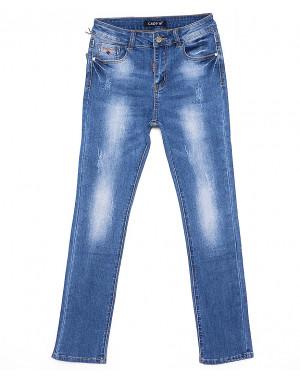 1271 Lady N джинсы женские батальные с царапками весенние стрейчевые (28-33, 6 ед.)