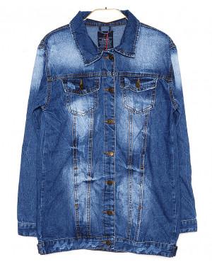 A 0207-9 Relucky куртка джинсовая женская батальная с царапками весенняя котоновая (L-5XL, 6 ед.)