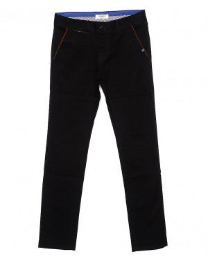0672-34 Disvocas брюки мужские с косым карманом черные весенние стрейчевые (30-40, 8 ед.)