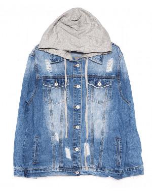 0134 (W134) Saint Wish куртка джинсовая женская с капюшоном весенняя котоновая (S-L, 3 ед.)