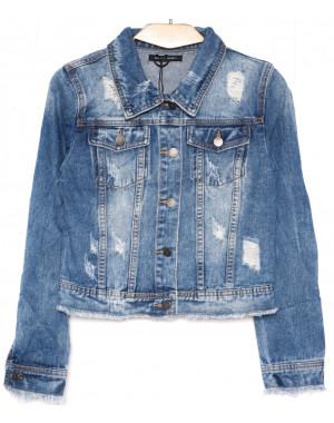 0137 (W137) Saint Wish куртка джинсовая женская с рванкой весенняя котоновая (S-XL, 4 ед.)