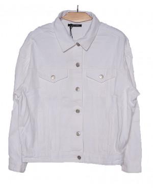 0136-2 (W136-2) Saint Wish куртка джинсовая женская белая весенняя котоновая (S-L, 3 ед.)