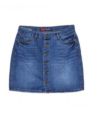 V 0031-12 Relucky юбка джинсовая батальная весенняя котоновая (28-33, 6 ед.)