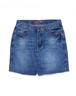V 0024-12 Relucky юбка джинсовая весенняя котоновая (25-30, 6 ед.)