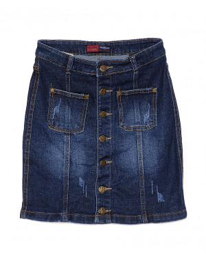 A 0404-4 Relucky юбка джинсовая с царапками весенняя стрейчевая (25-30, 6 ед.)
