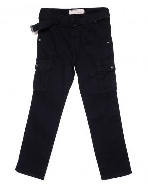 D 8813-8 Iteno брюки мужские карго батальные темно-синие весенние стрейч-котон (33-42, 6/12 ед.)