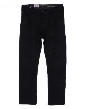 6012-1 Baron брюки мужские батальные черный меланж весенние стрейч-котон (32-38, 8 ед.)