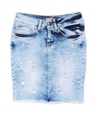 0771 Gucci юбка джинсовая с жемчугом стрейчевая (26,27,29, 3 ед.)