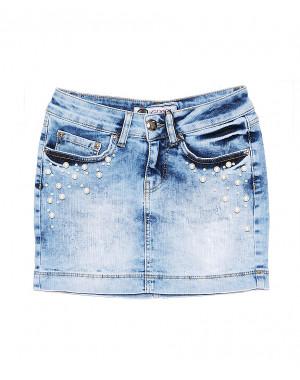 0773 Gucci юбка джинсовая с жемчугом стрейчевая (26-30, 5 ед.)