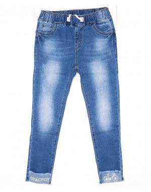 1263 Lady N джинсы женские батальные на резинке весенние стрейчевые (30-36, 6 ед.)