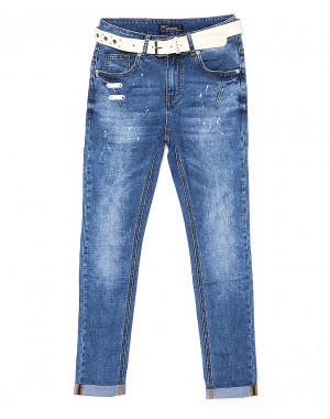 8056 Dknsel джинсы женские батальные стильные весенние стрейчевые (28-33, 6 ед.)