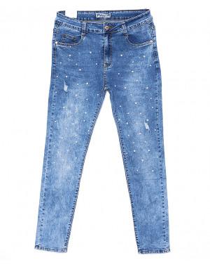 0886 Miss Free джинсы женские батальные с декоративной отделкой весенние стрейчевые (31-38, 6 ед.)