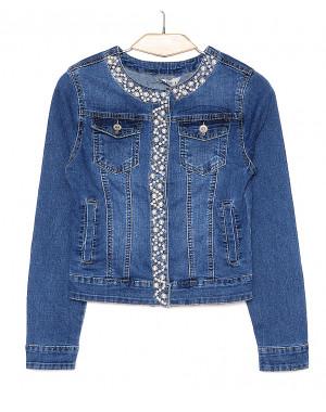 1197 Miss Curry куртка джинсовая женская с декоративной отделкой весенняя стрейчевая (XS-XL, 6 ед.)