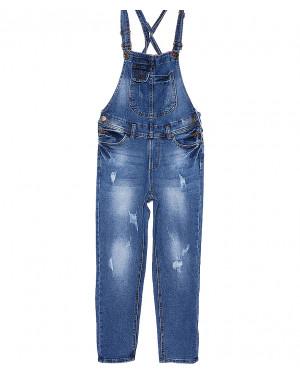 A 0335-10 Relucky комбинезон джинсовый женский с царапками весенний стрейчевый (25-30, 6 ед.)