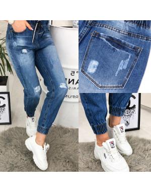A 0409-12 Relucky джинсы женские на резинке и манжете весенние котоновые (25-30, 6 ед.)