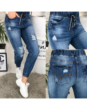 A 0408-12 Relucky джинсы женские на резинке и манжете весенние котоновые (25-30, 6 ед.)