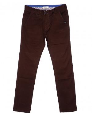 0672-31 Disvocas брюки мужские батальные коричневые весенние стрейчевые (32-36, 8 ед.)