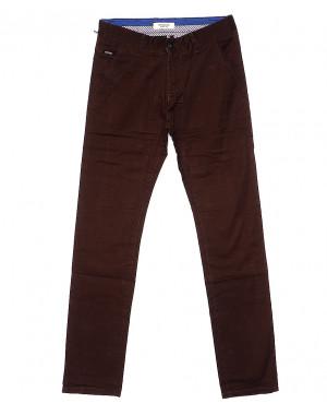 0671-31 Disvocas брюки мужские коричневые весенние стрейчевые (30-38, 8 ед.)