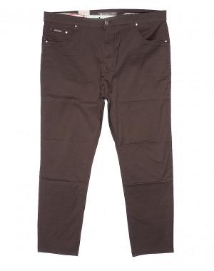 9015-D LS брюки мужские батальные коричневые весенние стрейчевые (34-44, 8 ед.)