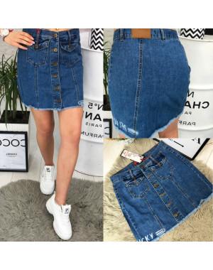 Юбка джинсовая на пуговицах котоновая ( V 0029-12 Relucky )