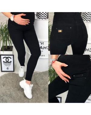 0906-2 Relucky джинсы для беременных батальные черные весенние стрейчевые (28-33, 6 ед.)