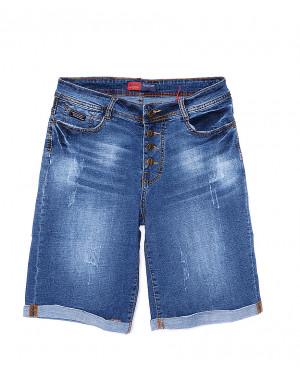 A 0153-15 Relucky шорты джинсовые женские батальные на пуговицах стрейчевые (31-38, 6 ед.)