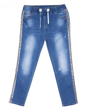 1264 Lady N джинсы женские батальные на резинке весенние стрейчевые (30-36, 6 ед.)