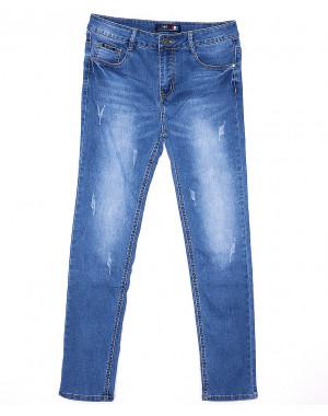 0083 V&D джинсы женские батальные с царапками весенние стрейчевые (30-36, 6 ед.)