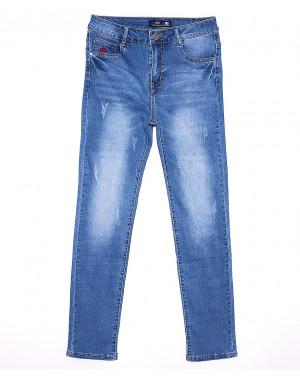 0086 V&D джинсы женские батальные с царапками весенние стрейчевые (31-38, 6 ед.)
