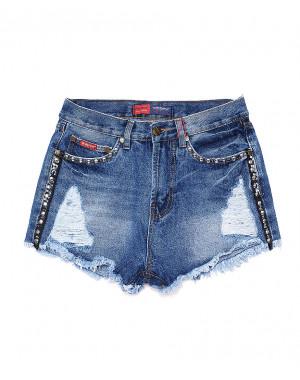 A 0020-12 Relucky шорты джинсовые женские стильные котоновые (25-30, 6 ед.)