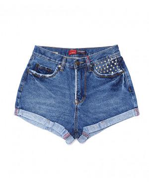 A 0016-12 Relucky шорты джинсовые женские стильные котоновые (25-30, 6 ед.)
