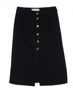 34000 черная Defile юбка джинсовая на пуговицах весенняя котоновая (34-42, евро, 6 ед.)