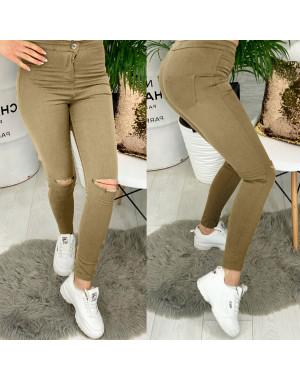 4000-06 TopShop бежевый прорези Selfy женские джинсы без карманов с прорезями весенние стрейчевые (34-42, евро, 5 ед.)
