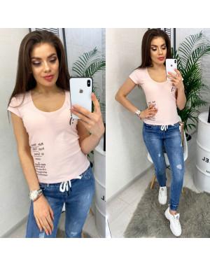 0116 розовая MMC футболка женская с принтом стрейчевая (S-XL, 4 ед.)