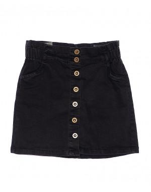 0973 Moon girl юбка джинсовая темно-серая стрейчевая (26-32, 6 ед.)