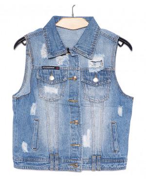 0615 New jeans жилетка джинсовая женская весенняя котоновая (XS-XXL, 6 ед.)