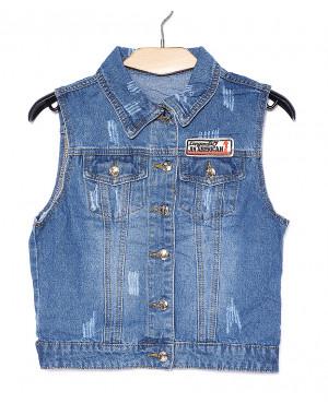 0622 New jeans жилетка джинсовая женская весенняя котоновая (XS-XXL, 6 ед.)