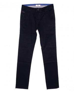 0671-29 Pobeda брюки мужские молодежные темно-синие весенние стрейчевые (27-34, 8 ед.)