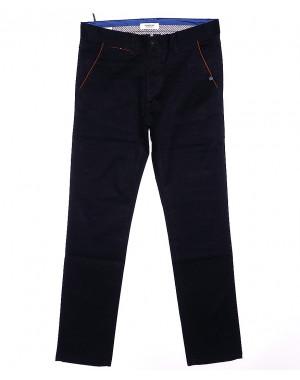 0672-29 Disvocas брюки мужские батальные темно-синие весенние стрейчевые (32-38, 8 ед.)