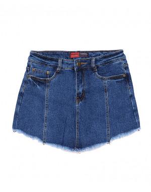 A 0103-9 Relucky шорты-юбка джинсовые стрейчевые (25-30, 6 ед.)
