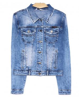 8919 Zijinyan куртка джинсовая женская батальная весенняя стрейч-котон (L-5XL, 6 ед.)