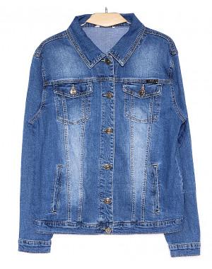 8907 Zijinyan куртка джинсовая женская батальная весенняя стрейч-котон (4XL-9XL, 6 ед.)