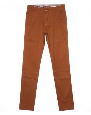 0049-37 Feerars брюки мужские молодежные светло-коричневые весенние стрейчевые (28-36, 8 ед.)
